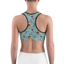 Sports Bra | Blue Floral (Made to Order)