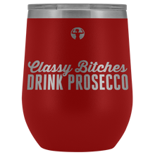 Classy Bitches Drink Prosecco | Outdoor Stemless Wine Tumblers