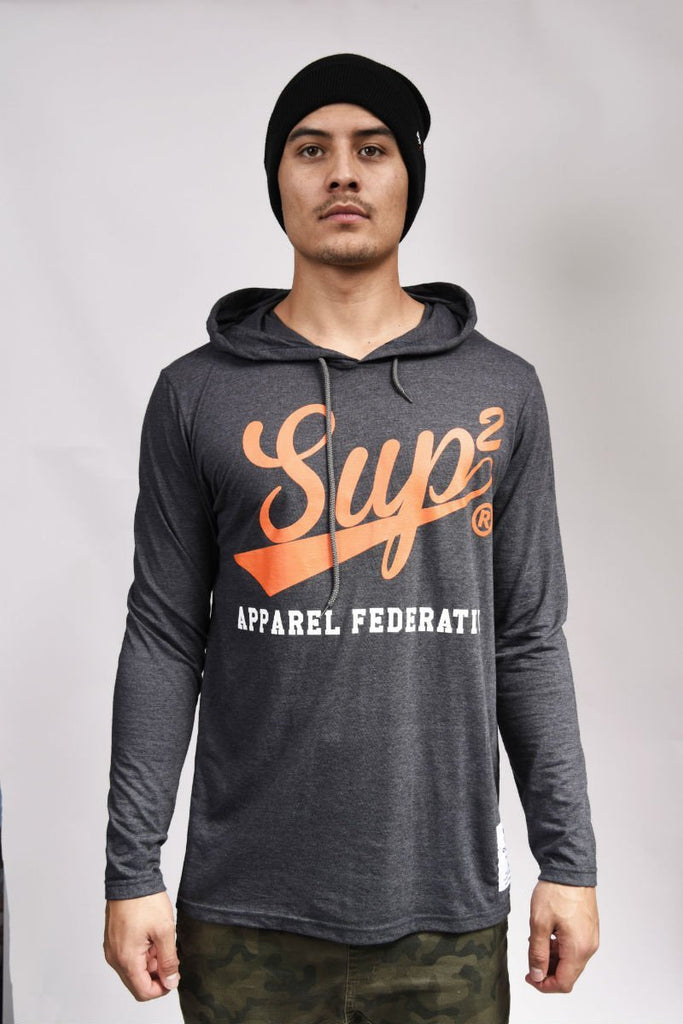 Apparel Federation Long Sleeve Hooded Tee - SUP2