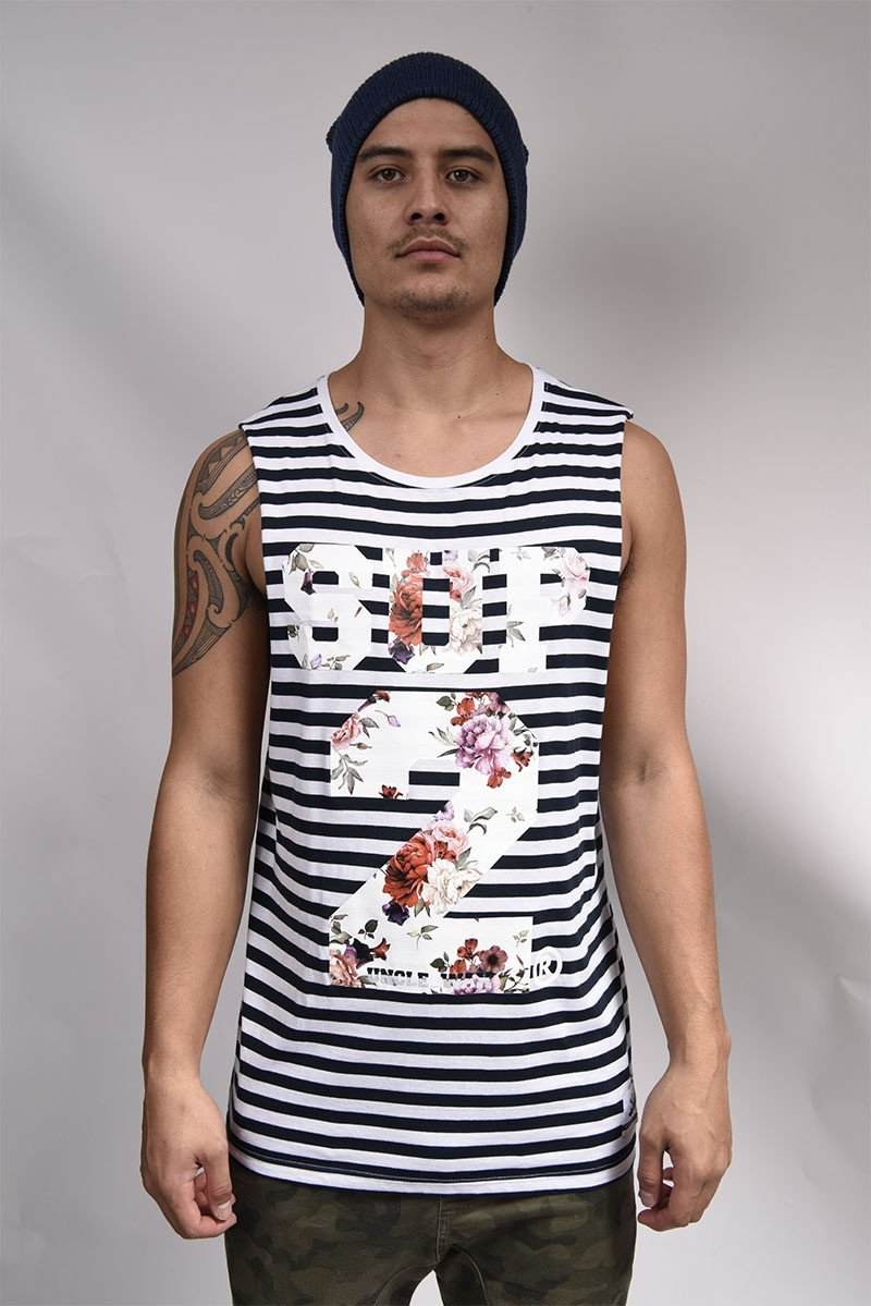 Aunty Doris Mens Stripe Tank - SUP2