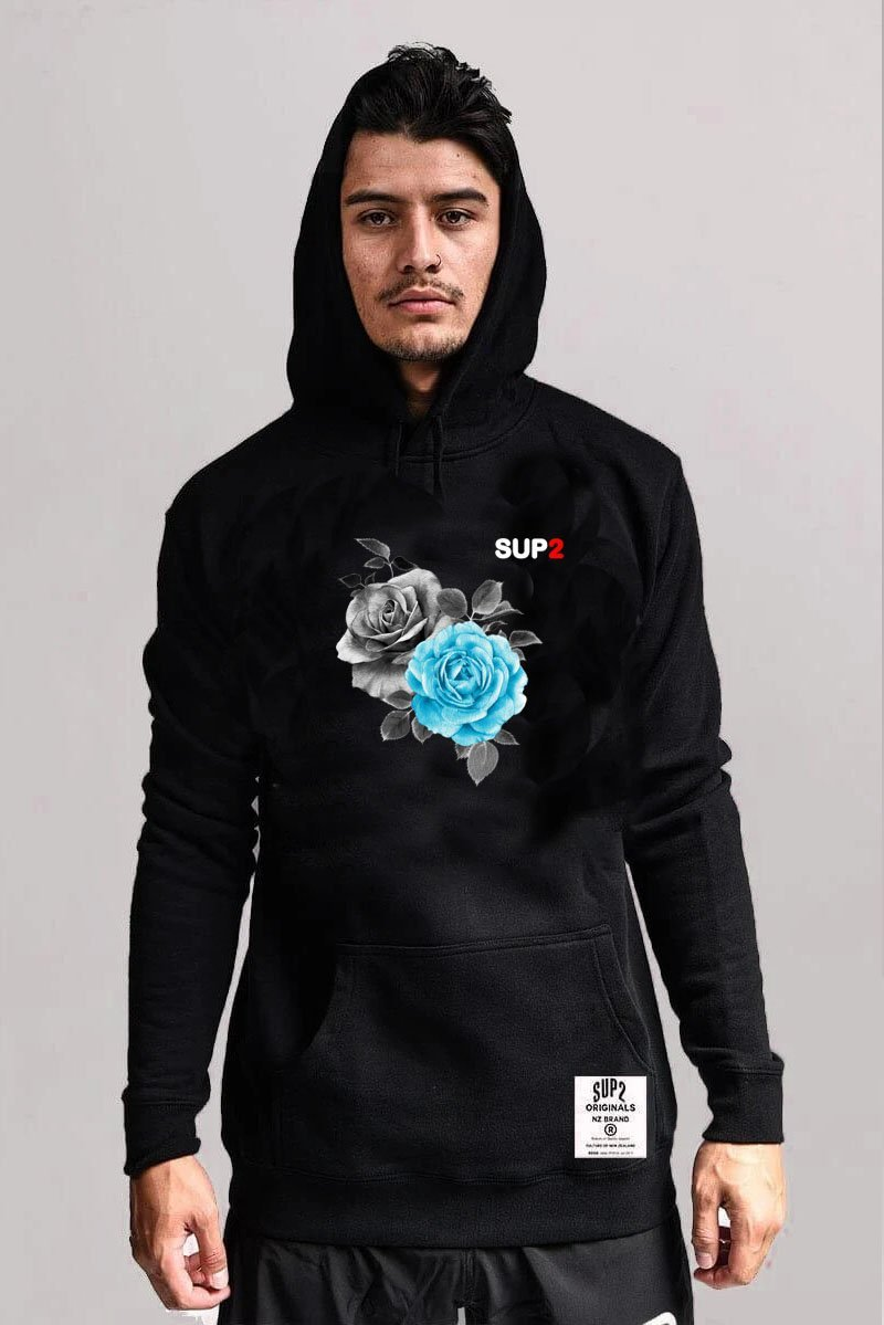 Blue 'Armour Rose' Hoodie - SUP2