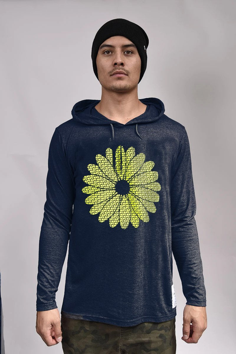 Touchy Daisy Long Sleeve Hooded Tee - SUP2
