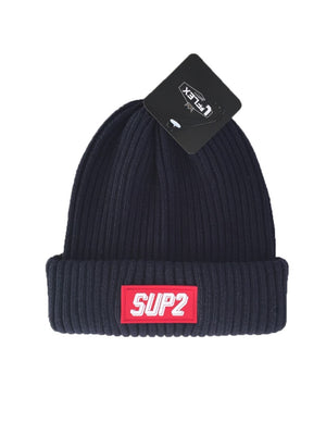 Red Label Ribbed Cuffed Beanie - SUP2