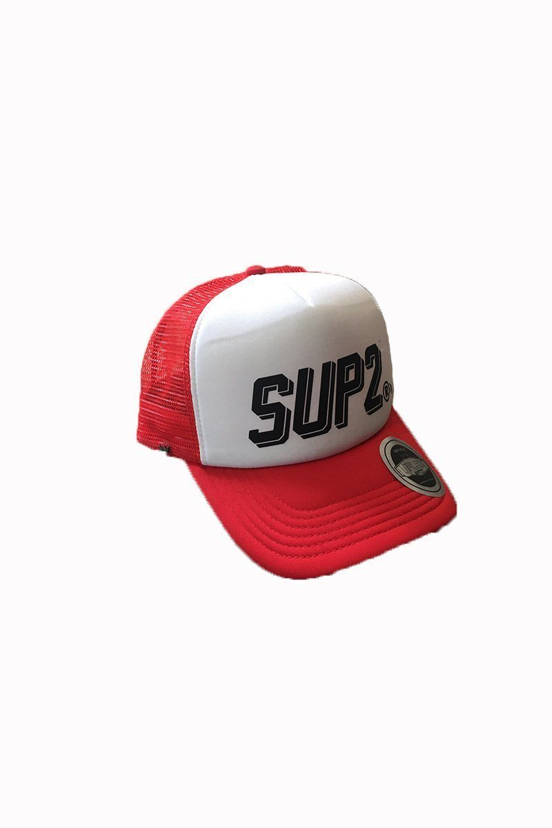 SUP2 Comic Red Snap back Trucker Cap - SUP2