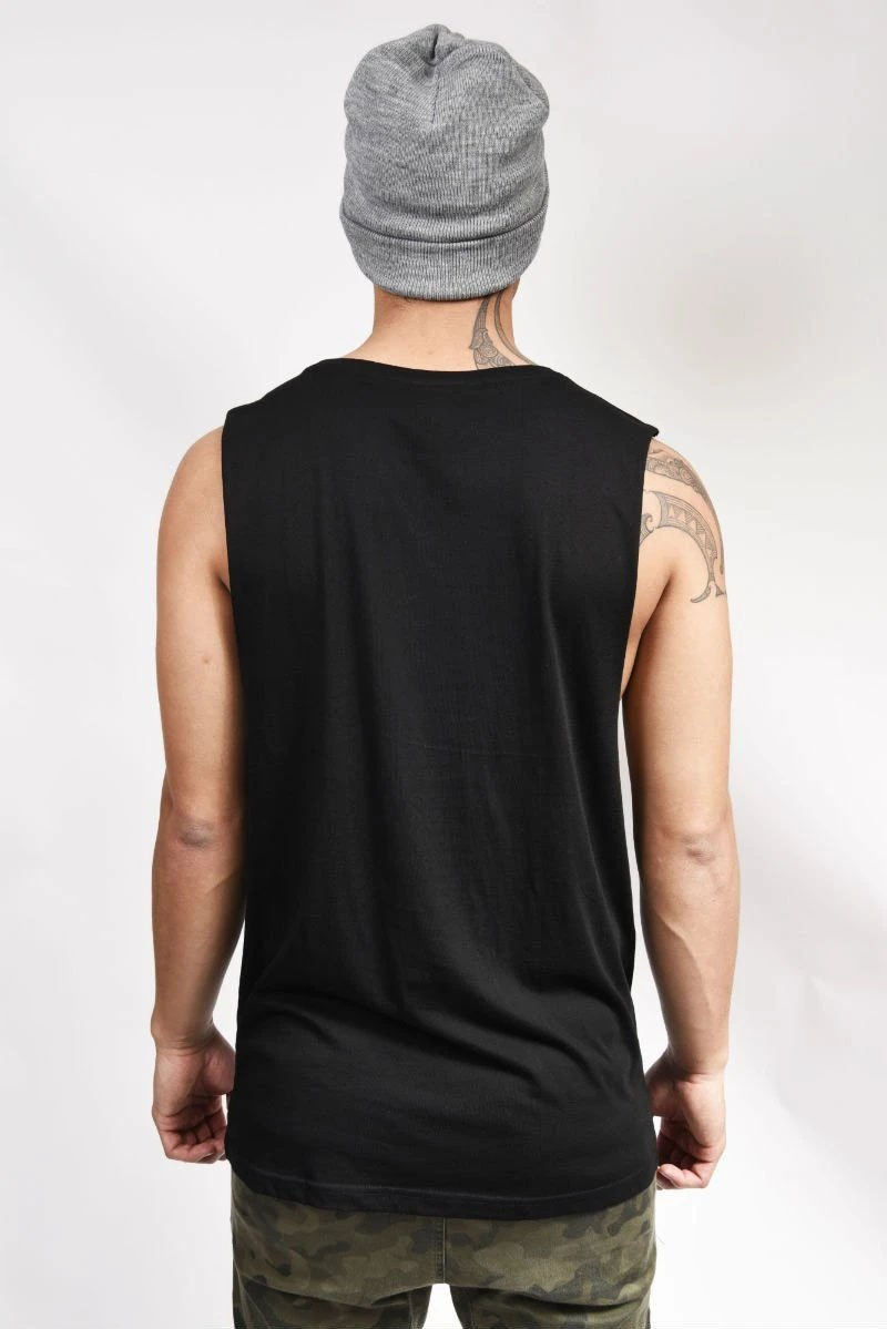 'Tiki Pou' Sleeveless Mens Tee -Dick Frizzell X SUP2 Series - SUP2