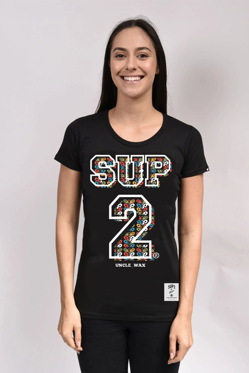 'Tiki Pou'BIG BLOCK' Womens cut Tee - SUP2