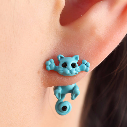 Silly Cat Dangle Earrings