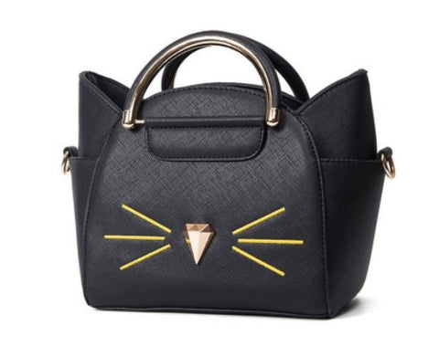 Chic Vegan Leather Cat Purse (4 colors)