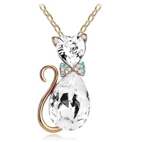 Beautiful Crystal Cat Pendants (Available in 7 Colors)
