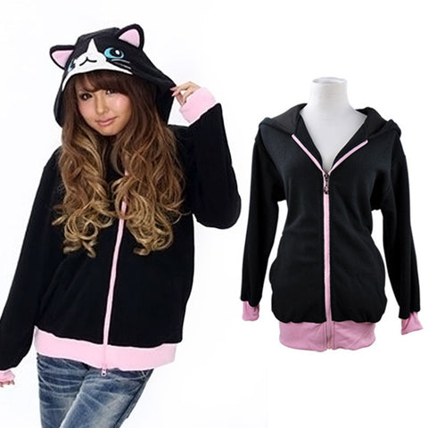 Polar Fleece Cat Ear Jacket