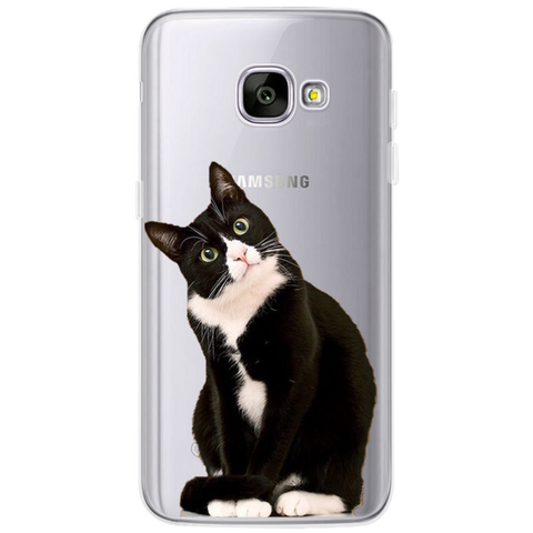 Black & White Cat Cellphone Cover for Samsung Galaxy