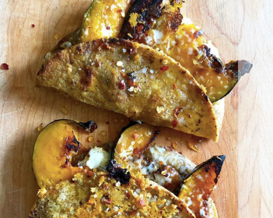 Roasted Squash & Double Cheese Quesadilla Recipe