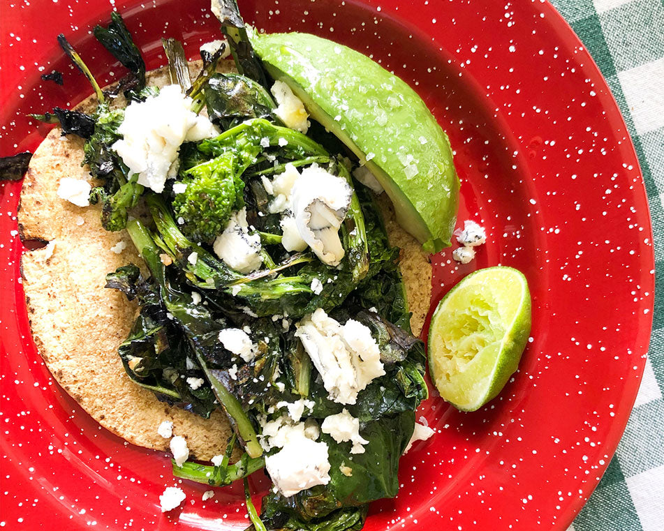Garlicky Greens Taco