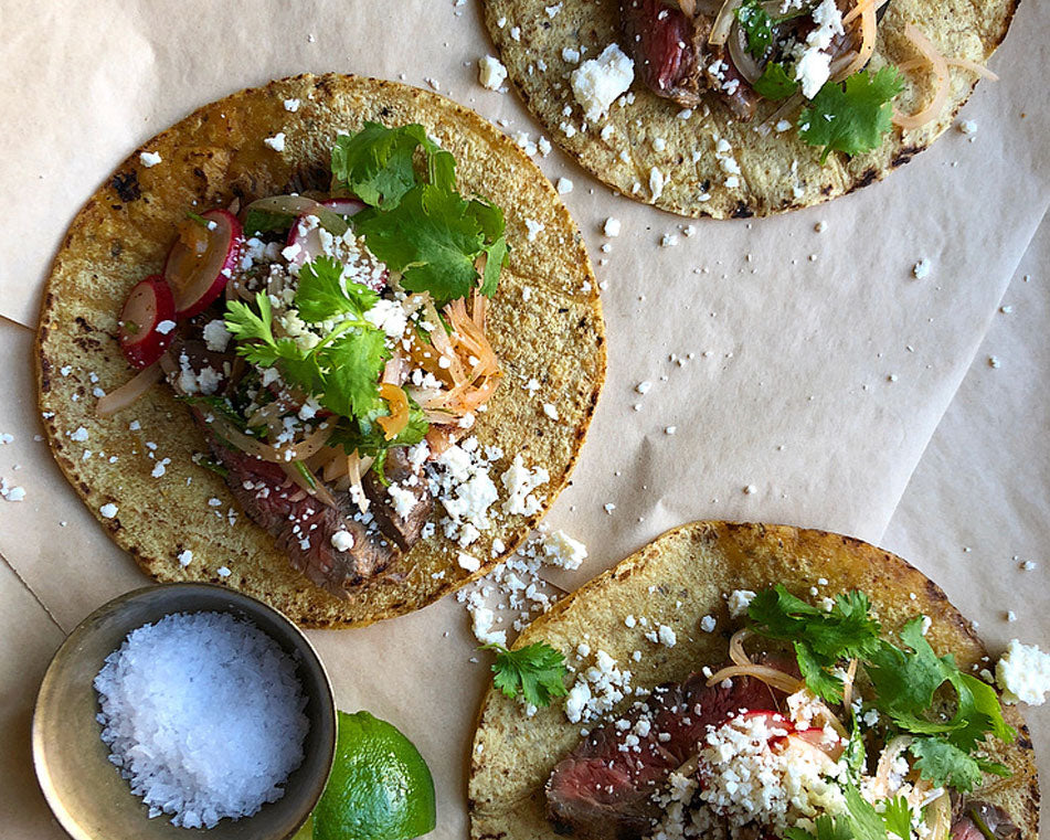 Pickled Jalapeno Steak Tacos