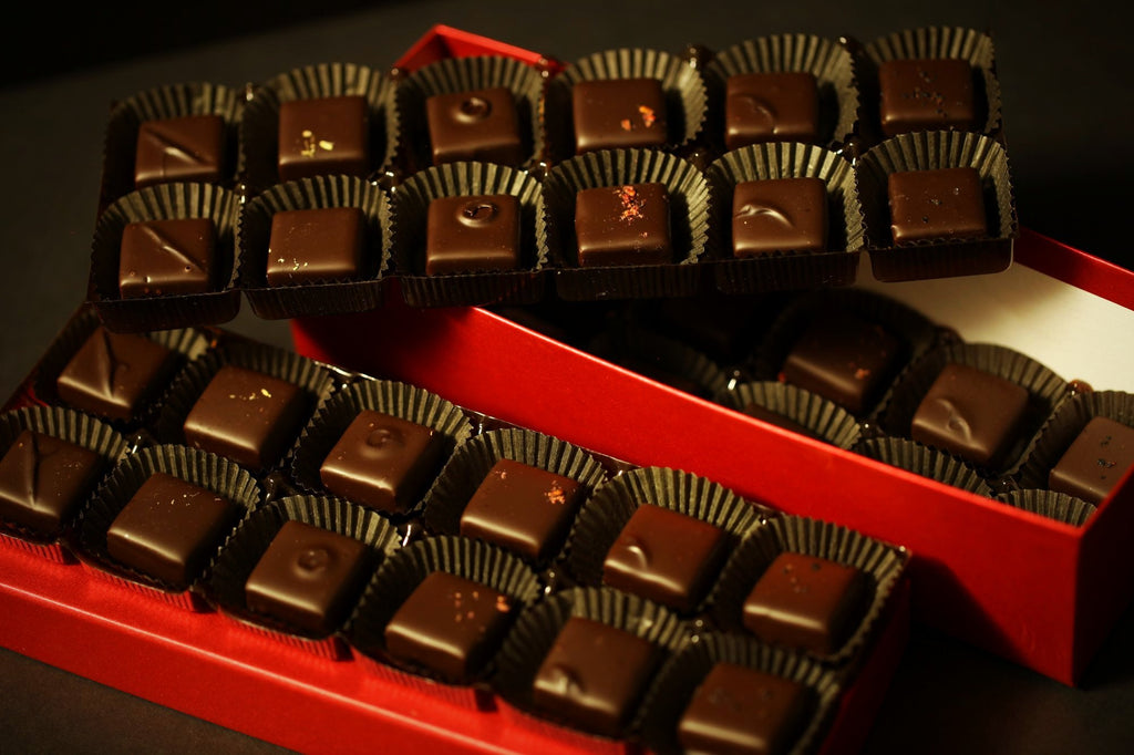36 pc box handcrafted fresh cream truffles by redclaychocolate.com