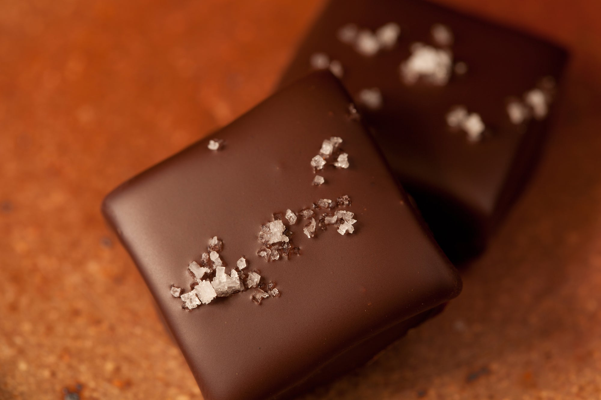 handcrafted salt caramels by redclaychocolate.com