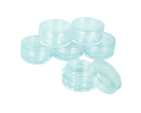 5ml Clear Cream Containers (6 pcs)