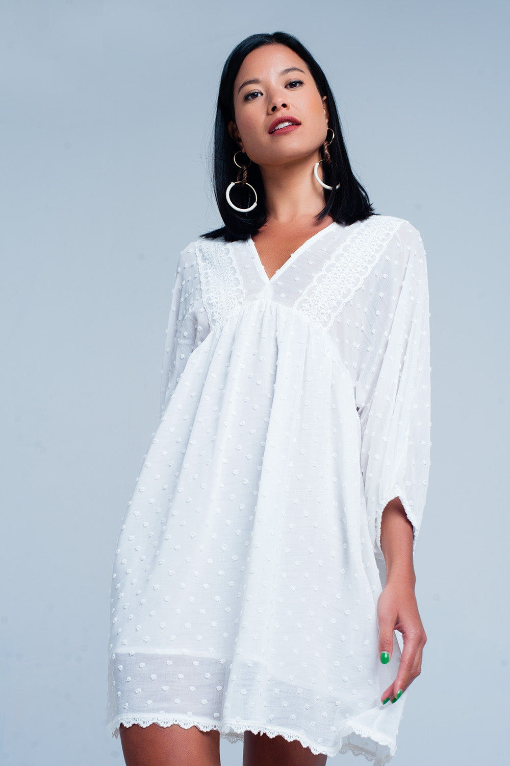 Textured white dress - KATANA FASHION BOUTIQUE