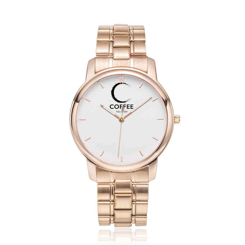 COFFEE RELIGION MIAMI COFFEE TIME Watch in Rose Gold