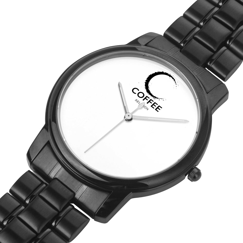 COFFEE RELIGION MIAMI COFFEE TIME Black Minimalist Watch - KATANA FASHION BOUTIQUE