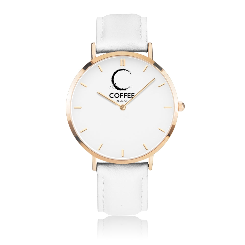 COFFEE RELIGION COFFEE TIME Gold Minimalist Watch - KATANA FASHION BOUTIQUE
