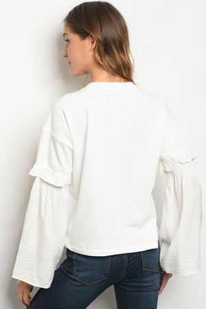 Womens Off White Top - KATANA FASHION BOUTIQUE