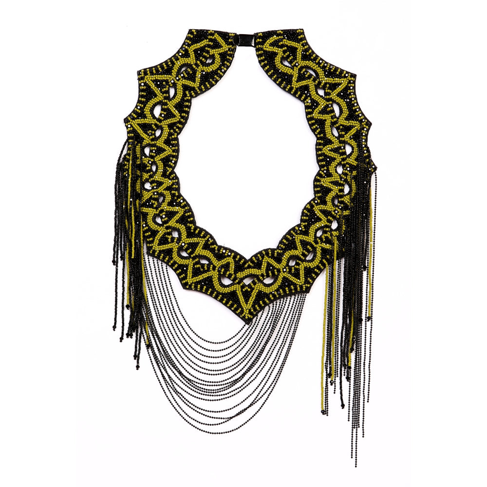 Olivine ALABASTER WEB NECKPIECE. - KATANA FASHION BOUTIQUE