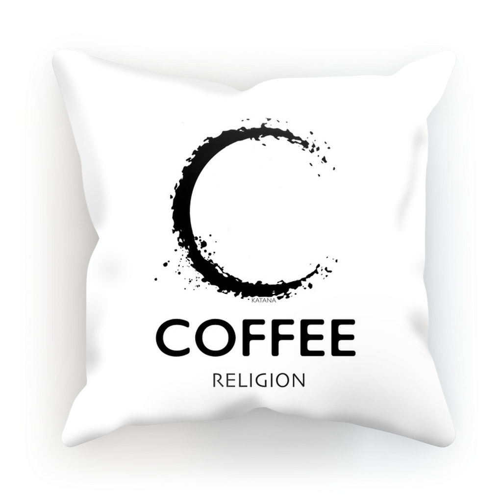 COFFEE RELIGION LOGO Sublimation Cushion Cover