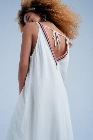 Long beige dress with straps - KATANA FASHION BOUTIQUE