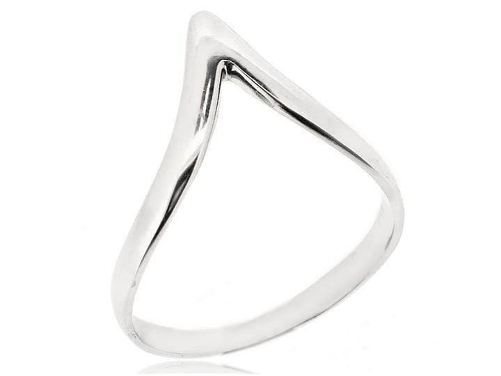 CHEVRON THUMB RING