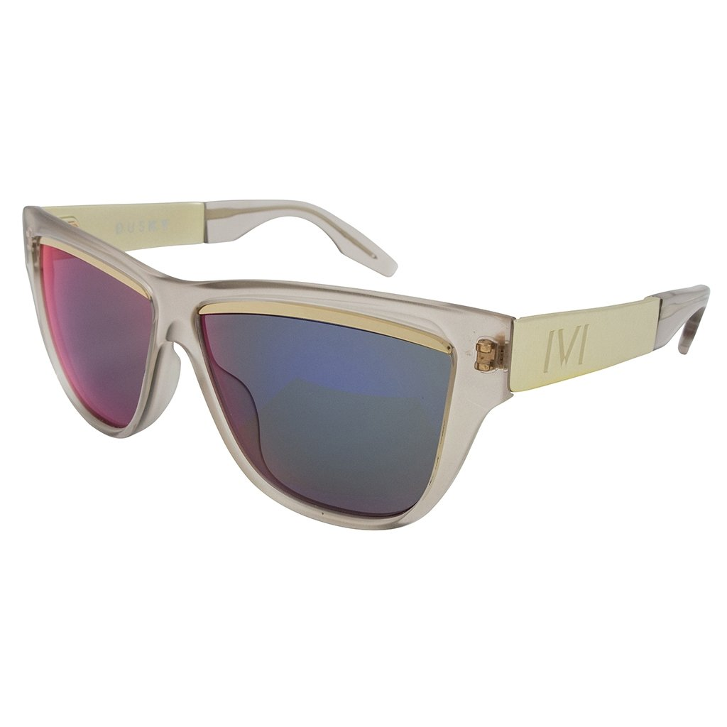IVI Sunglasses  Dusky: Polished Nude - Brushed Champagne / Amethyst Flame Flash Lens