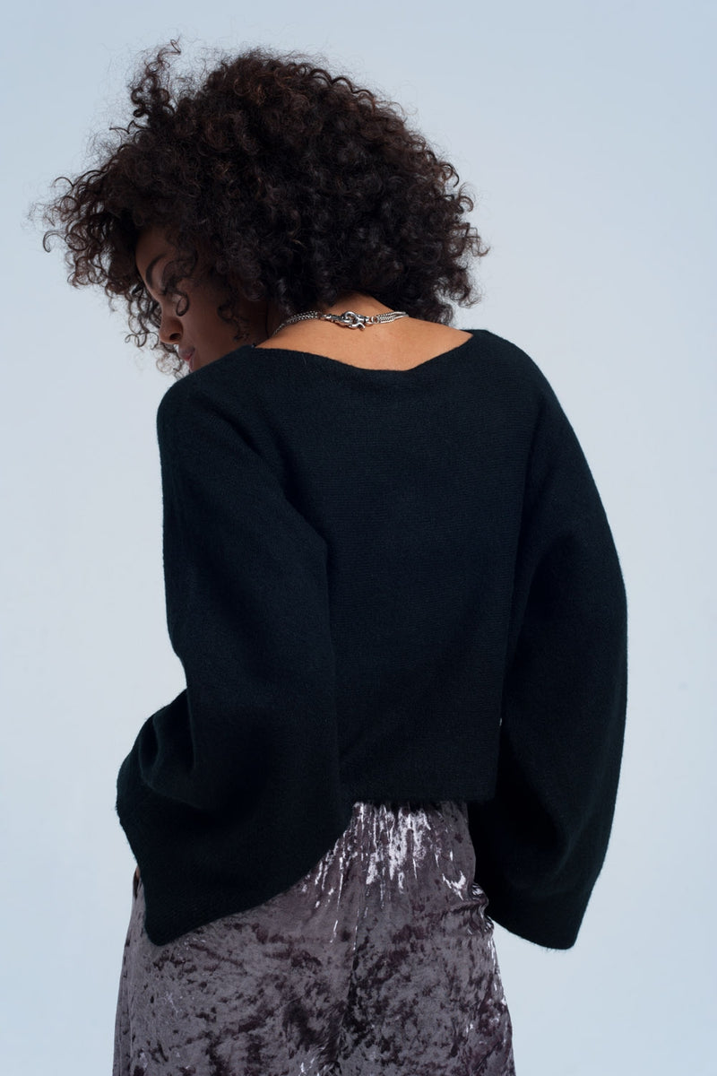Black short sweater - KATANA FASHION BOUTIQUE