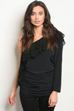 Womens Ruffled Detailed Top - KATANA FASHION BOUTIQUE