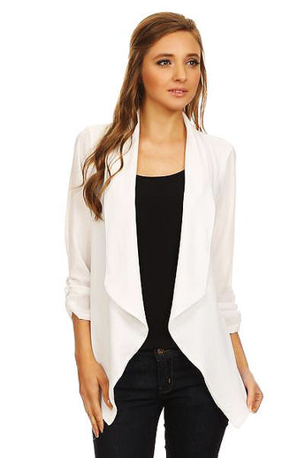 WHITE BLOUSE BLAZER