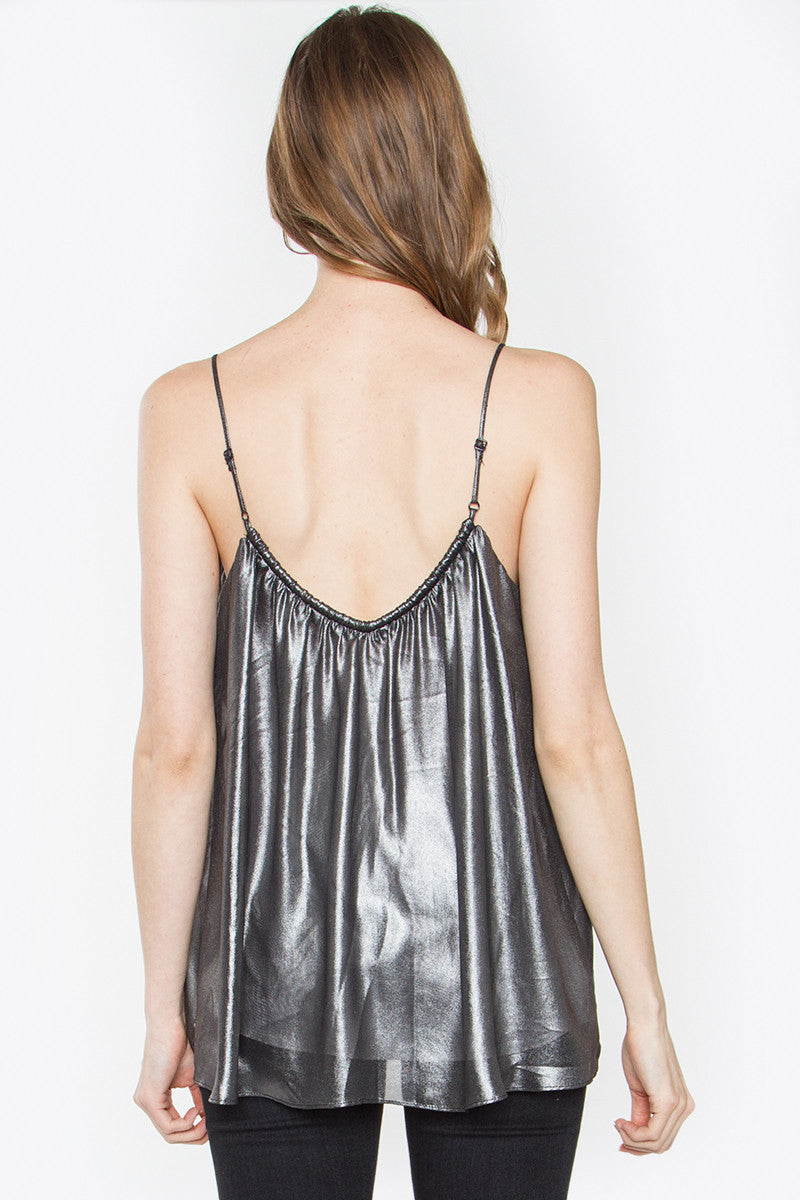 Silver Cami Top - KATANA BOUTIQUE