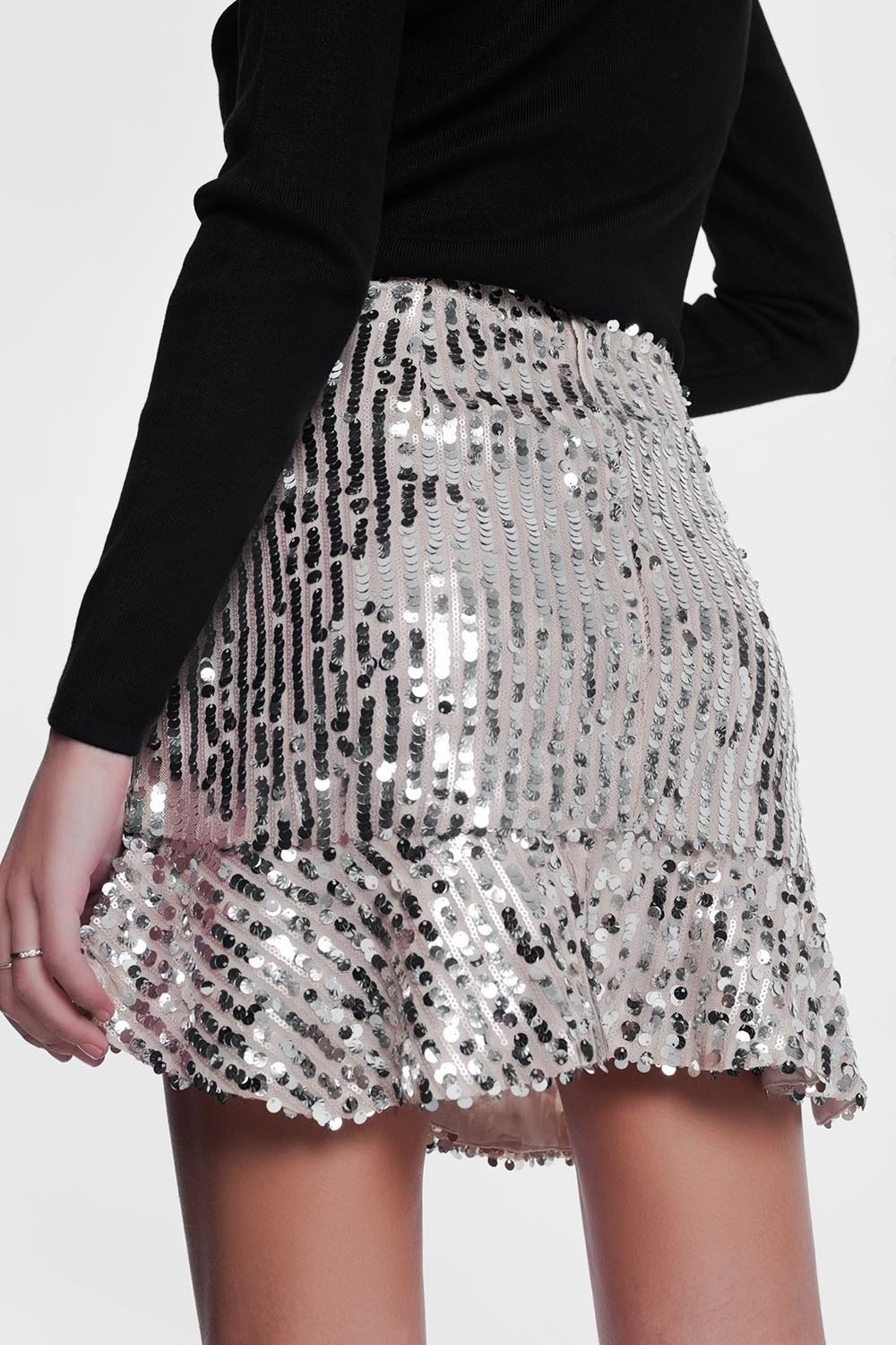 Shiny Gold Skirt - KATANA FASHION BOUTIQUE