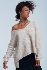 Sweater in beige - KATANA FASHION BOUTIQUE