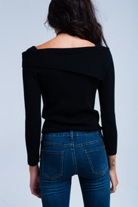 Black off shoulder sweater - KATANA FASHION BOUTIQUE