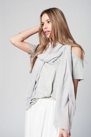 Grey cold shoulder top - KATANA FASHION BOUTIQUE