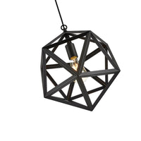 Edison Geometric Black Light Industrial Large Decor Fixture