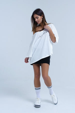 White t-shirt with California logo - KATANA FASHION BOUTIQUE