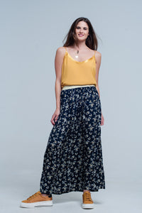 Mustard cami top with shiny pattern - KATANA FASHION BOUTIQUE