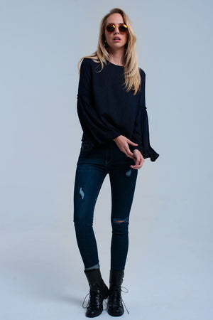 Midnight blue print shirt - KATANA FASHION BOUTIQUE