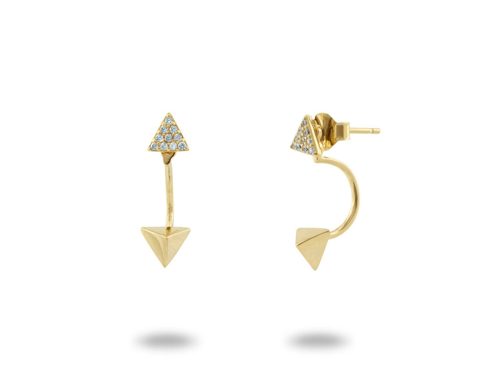 Top & Bottom Pyramid Stud Earrings