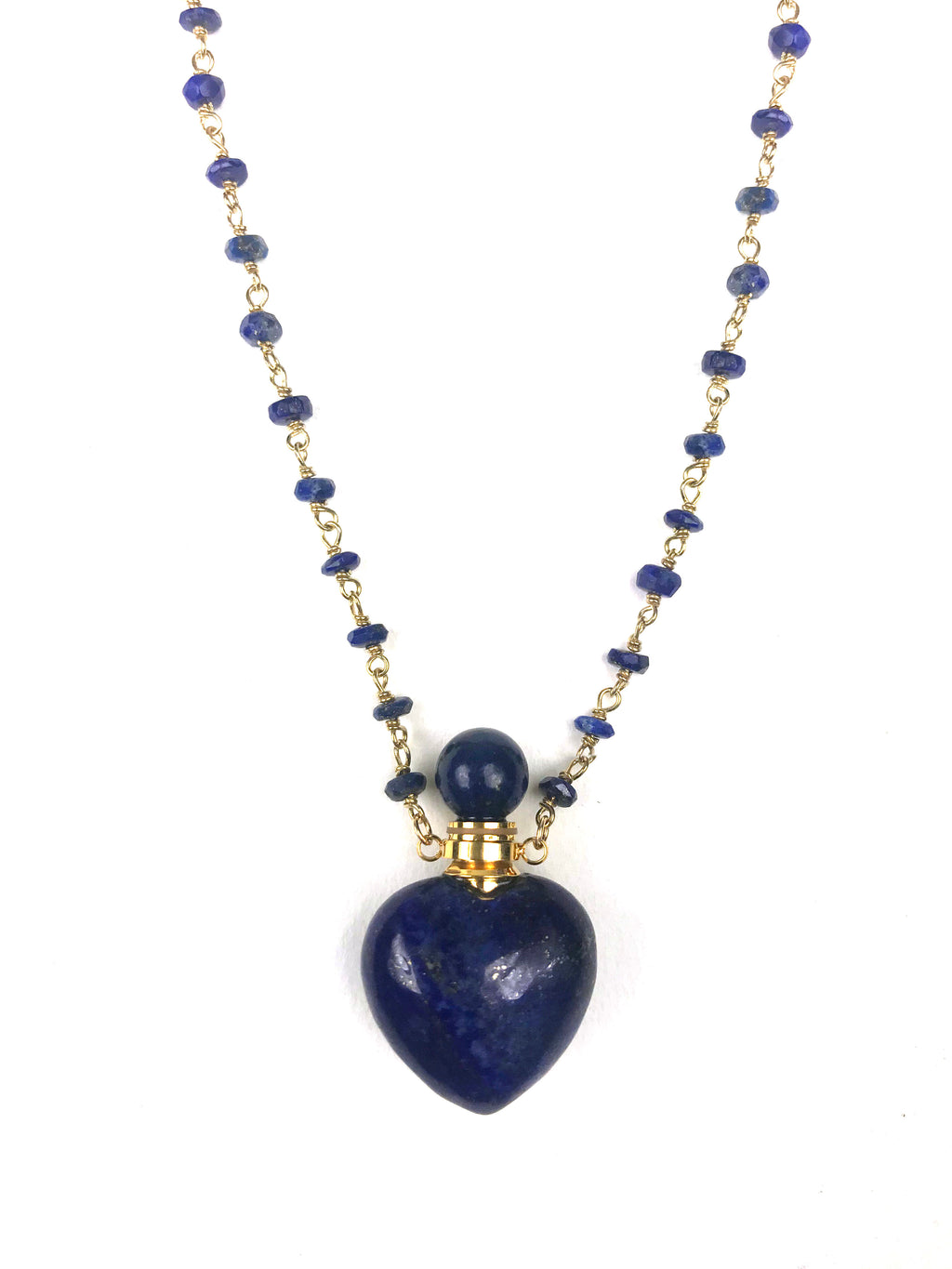 Lapis Lazuli Heart Necklace - KATANA FASHION BOUTIQUE