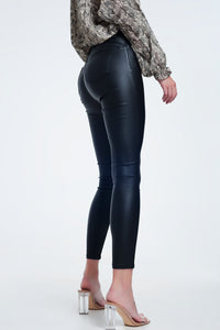 Push Up High Waist Black Pants in Super Skinny Fit - KATANA FASHION BOUTIQUE