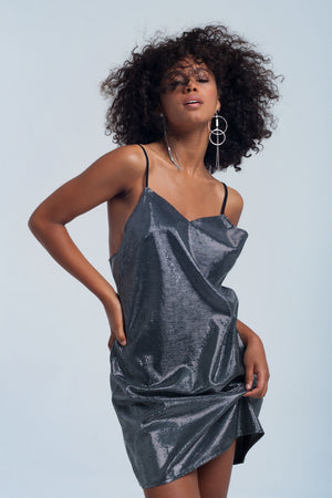 Shiny Silver Dress - KATANA FASHION BOUTIQUE