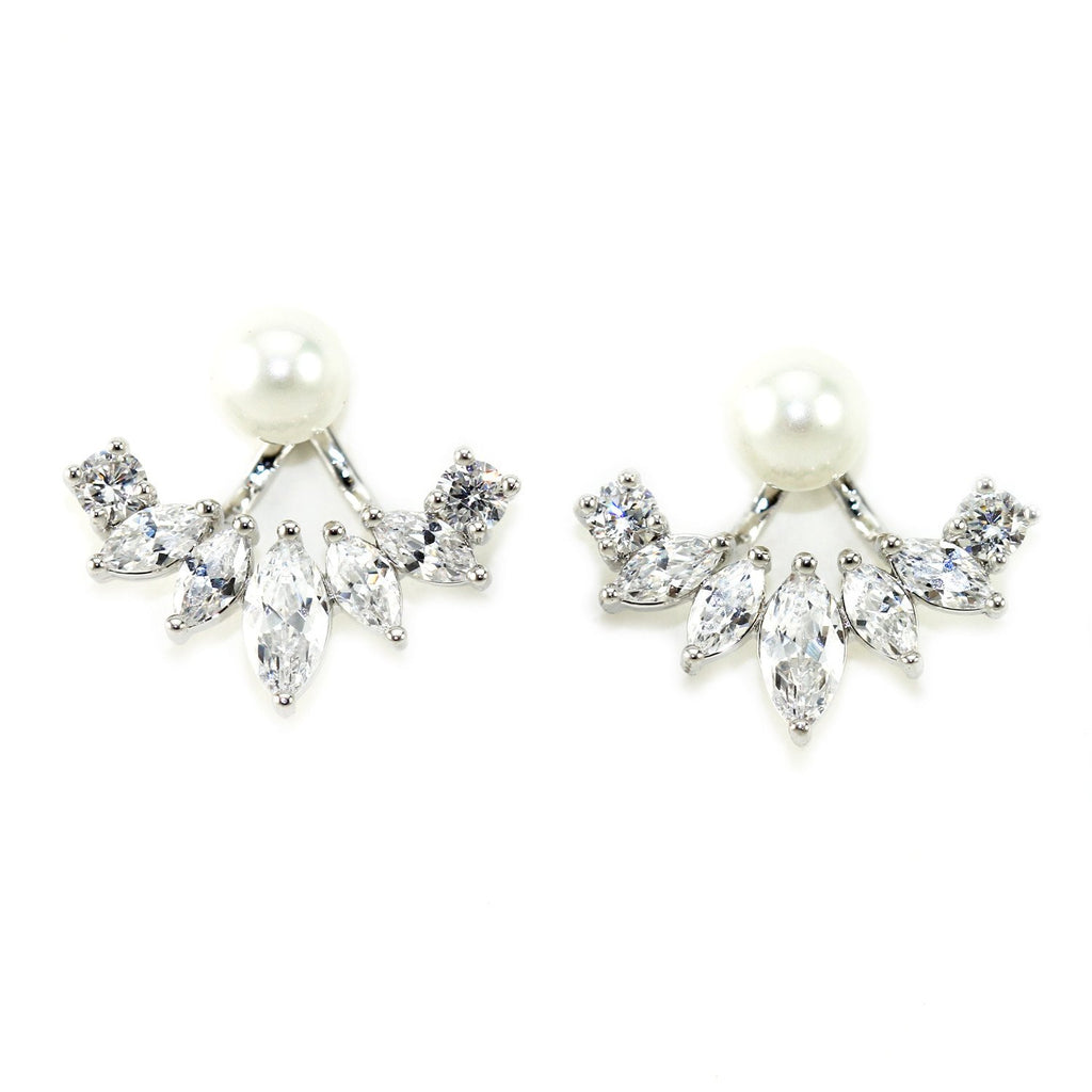 Iced Pearl Ear Jacket - KATANA FASHION BOUTIQUE