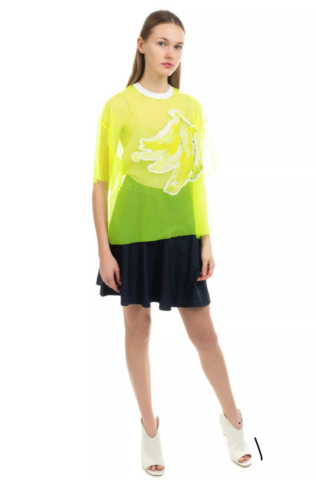 MSGM Made in Italy Neon Bananas Aplique Top