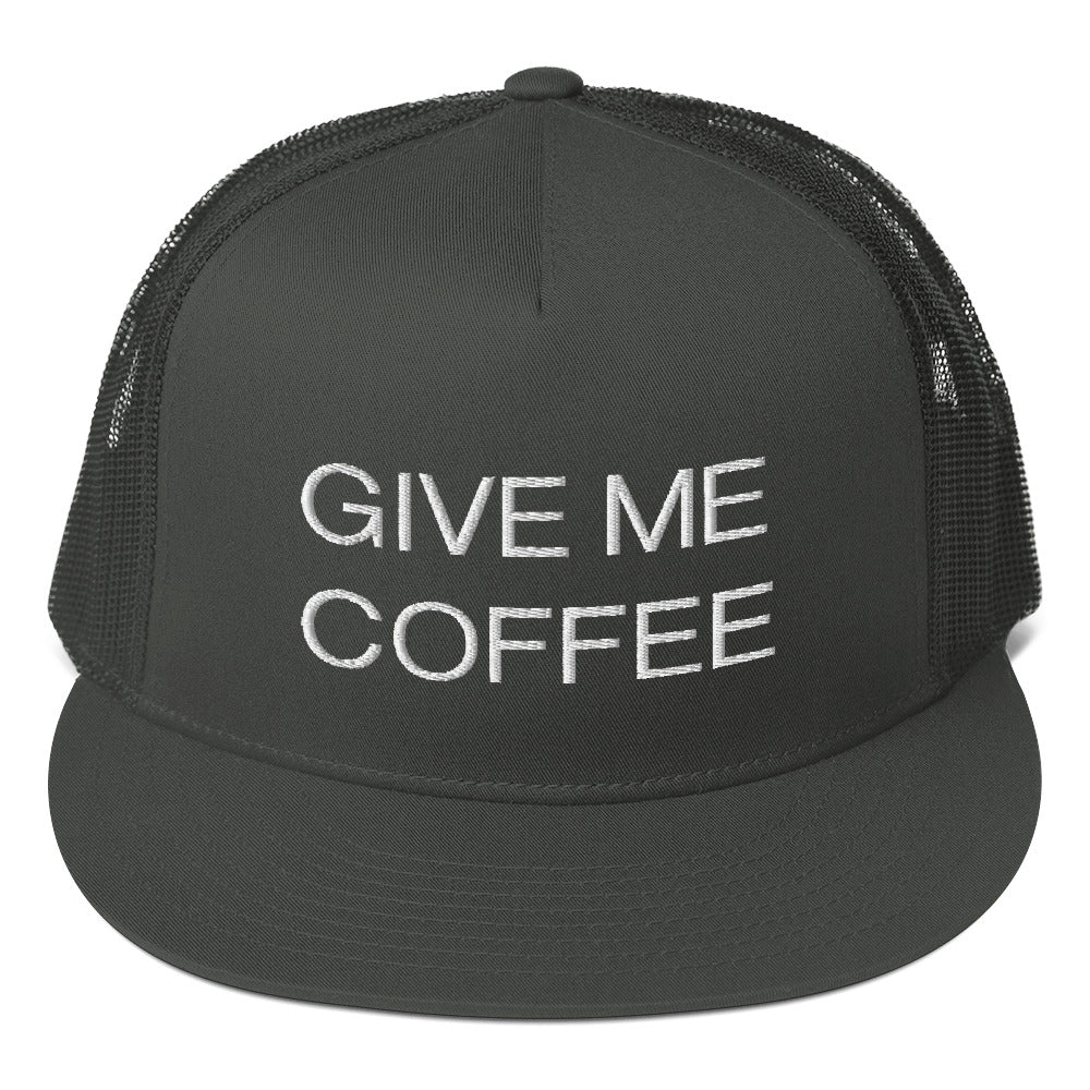 CIVE ME COFFEE Mesh Back Snapback Trucker Hat Cap - KATANA FASHION BOUTIQUE